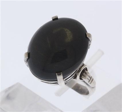 damen ring in aus silber mit edelstein schwarz edelsteinring silberring gr 59 ebay. Black Bedroom Furniture Sets. Home Design Ideas